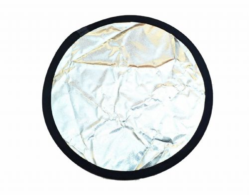 High Reflective Dimpled Silver Reflector 80cm Silver/Black Reflector Studio